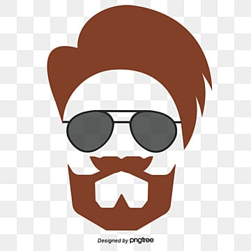 Sunglasses And Beard Vector Elements Of The Trend