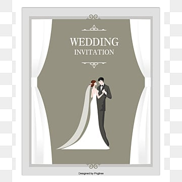 Vector wedding invitation, HD, Vector, Greeting Cards PNG and Vector