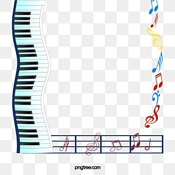 musical instruments and musical notes frame texture border creative musical instruments png and - Music Note Picture Frame