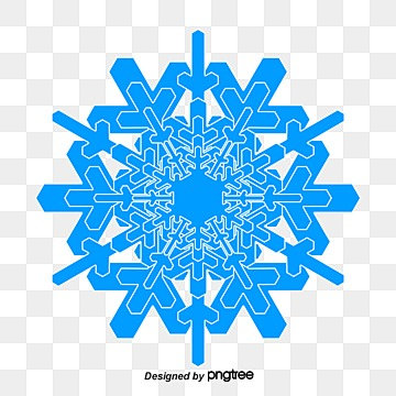 Ice crystals vector