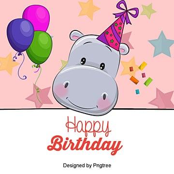 Vector Cartoon Bear Birthday Cards Clipart Card PNG