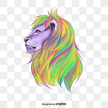 lion, Painted Lion, Lions Head, Drawing Lion PNG Image