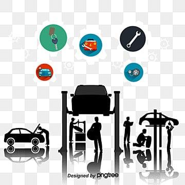 Vector car repair