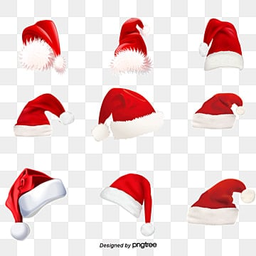 Christmas hats, Red, Christmas, Hat PNG and PSD
