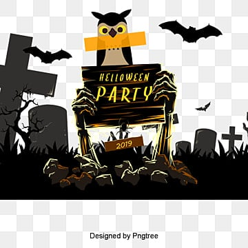 Halloween, Black, Halloween, Party PNG and PSD