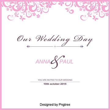 Wedding Invitation Template Free Download Marry Marriage Certificate Card PNG And Vector
