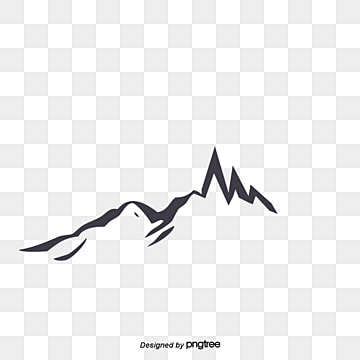 vector mountain silhouette, Deep Color, Vector, Mountain Peak PNG and PSD