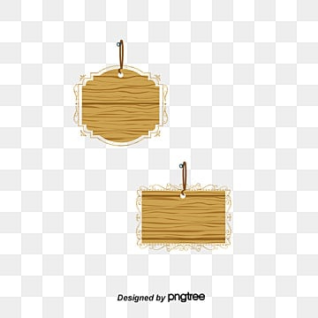 Wooden Plaque PNG Images