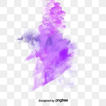 Purple puff, Purple, Smoke, Aqueous PNG and PSD