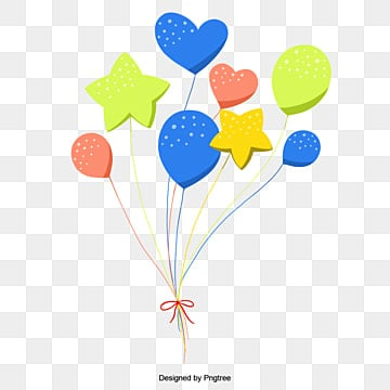 Celebrate balloons, Festival, Birthday, Heart PNG and Vector