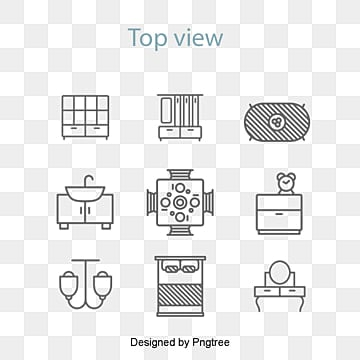 Vector Furniture Icon In The Top View Sofa Bed PNG And