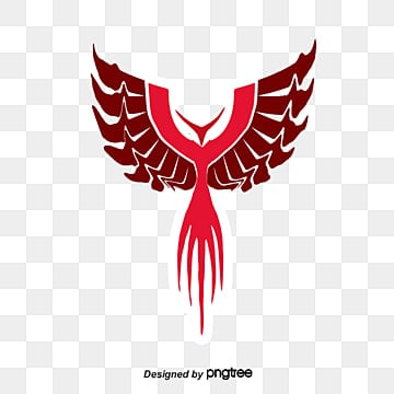 Red phoenix king of birds chinese elements png image for free red phoenix contour decoration vector red png and vector voltagebd Choice Image