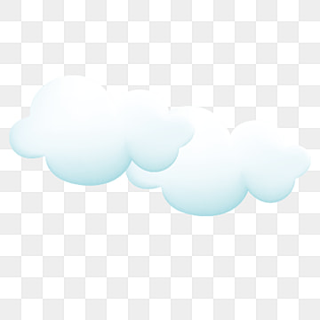 cloud, Cartoon, Light Blue, Hand Painted PNG and PSD
