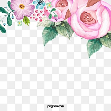 Hand-painted flowers, Hand Painted, Flowers, Illustration PNG and PSD