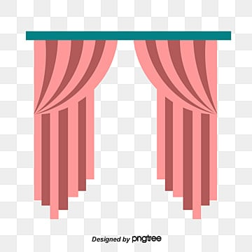 Red Curtain, Red, Curtain, Background PNG Image