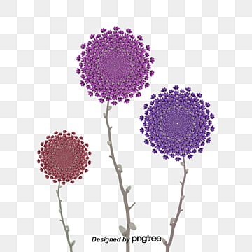 Purple Dandelion Free PNG and PSD