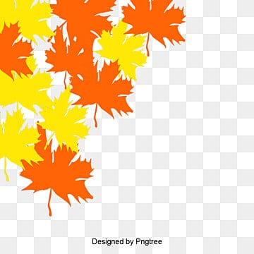 Autumn maple leaf texture painted cartoon, Cartoon, Hand Painted, Fall PNG and Vector