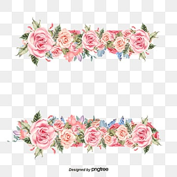 Watercolor floral border background, Watercolor, Leaf, Plant PNG and Vector