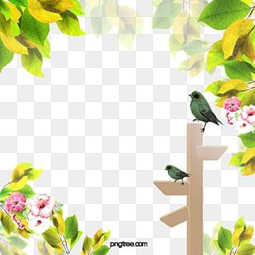 светящиеся прозрачные весна, естественно, справочная карта, листья, птица, знакPNG и PSD