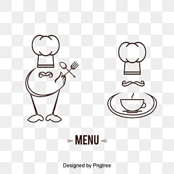 Material de vetor de marca de chef marca menu for Material para chef