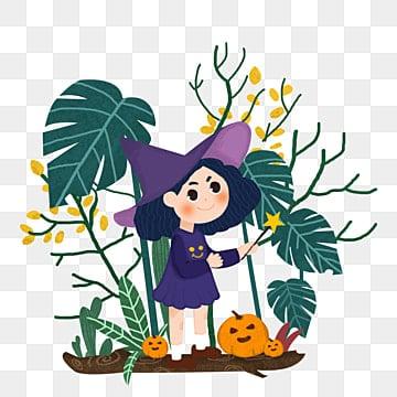 Halloween Halloween witch vector material, Halloween, Halloween, Witch PNG and Vector