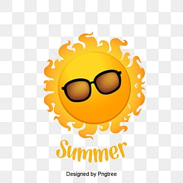 Summer sun, Sun, Glasses, Smile PNG and Vector