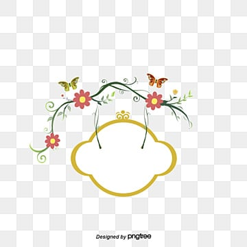 Fresh Flowers Hand Painted Border Frame Fashion Lace PNG Image And Clipart