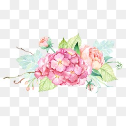 Small fresh -painted watercolor flower decorative, Small Fresh, Painted, Watercolor PNG Image