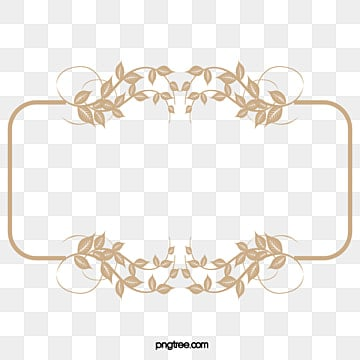 Classical Gold Frame Pattern Retro Borders PNG Image And