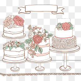 Wedding Cakes, Birthday, Wedding, Vector PNG and Vector