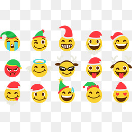 Christmas icon vector, Expression, Christmas Hats, Emoji PNG and Vector