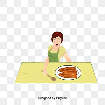 Female Chef Png, Vector, PSD, and Clipart With Transparent ... Woman Cooking Clipart Black And White