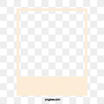 Polaroid Film Frame Clipart Simple Border PNG Image And