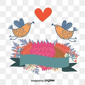 Wedding, Lovebirds, Wedding Flowers, Wedding Hearts PNG and Vector
