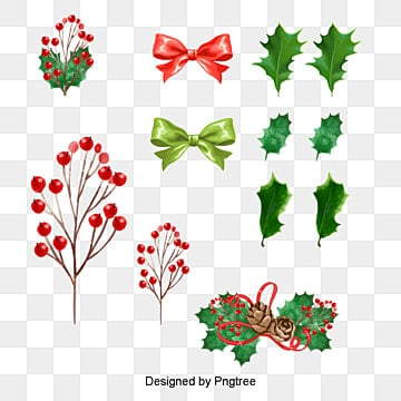 Various styles Vector Christmas tree decoration, Vector, Christmas, Holly Leaf PNG and Vector
