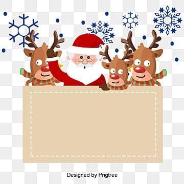 Elementos de Natal, Papai Noel, Elk, FlatPNG e Vector