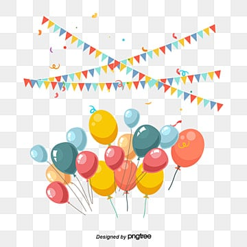 Birthday Party Decorations Png Images Vectors And Psd Files Free