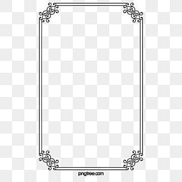 simple black frame png. Black Border Simple Frame Png W