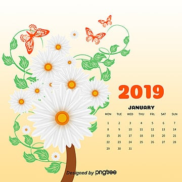 calendar, 2017, July, Butterfly PNG and PSD