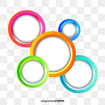 Colored circles, Circles, Round, Geometry PNG Image