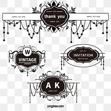 Vector Wedding decorative pattern, Wedding, Romantic, Marriage PNG and Vector