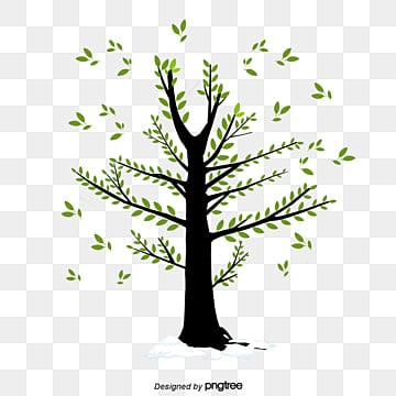 Bird Stands On A Tree Tree Clipart Bird Clipart Trees Png Image