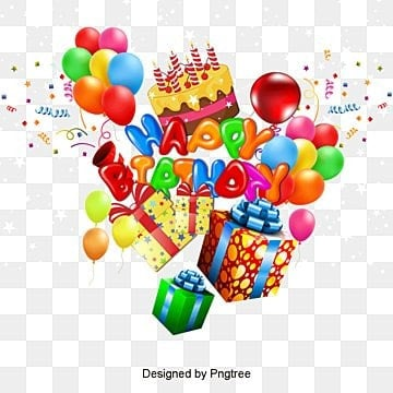 happy Birthday, Happy Birthday Font Design, Three-dimensional Characters, Happy Birthday Background PNG and Vector