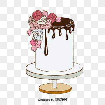 Rose, De La Crème De Lait, Chocolat, Poudre D'or PNG Image and Clipart