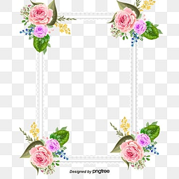 Invitations Decorative elements, Pink Flowers, Frame, Romantic PNG and Vector