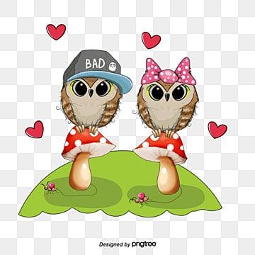 Owl vector mushrooms on, Owl, Cartoon Owl, Cute Owl PNG and Vector