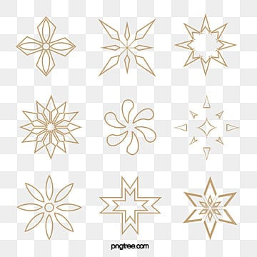 Golden religious flowers, Golden Lotus, Golden Hexagon Flowers, Creative Christmas PNG and Vector