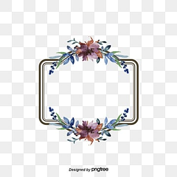 Vintage Floral Border Flowers Frame Continental PNG And Vector