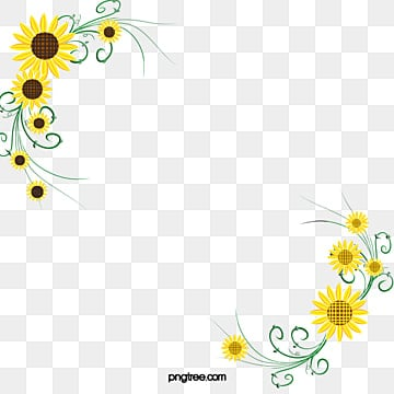 Sunflowers PNG Images | Vectors and PSD Files | Free ... Corner Page Sun Clipart