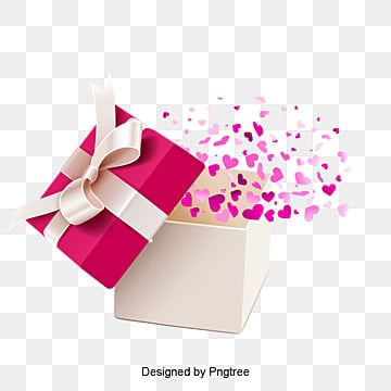 Colorful Love vector Flying Gift Box, En Forma De Corazon, Regalo, Festival  PNG y Vector